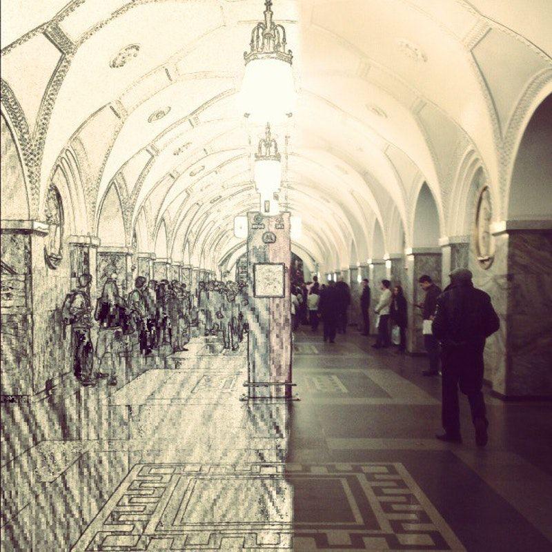 картинка парка культуры метро